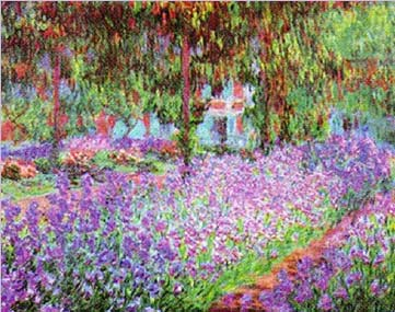 Monet - Artist's Garden at Giverny