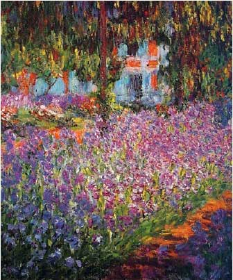 Monet Art Prints - Monet\'s Garden at Giverny