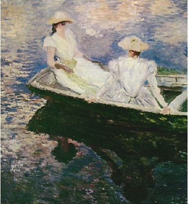 Monet - Girls on a Boat