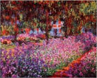 Monet - Artist's Garden at Giverny, canvas