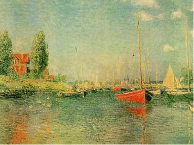 Monet - The Red Boats, Argenteuil