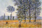 Monet - Sunlight under the poplars